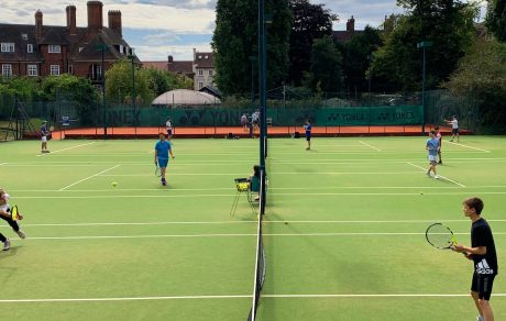 Farm Walk LTC teens playing at tennis camps
