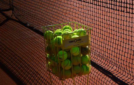 Farm Walk LTC tennis basket